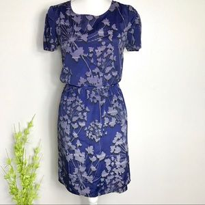 The Limited mini dress navy white floral design